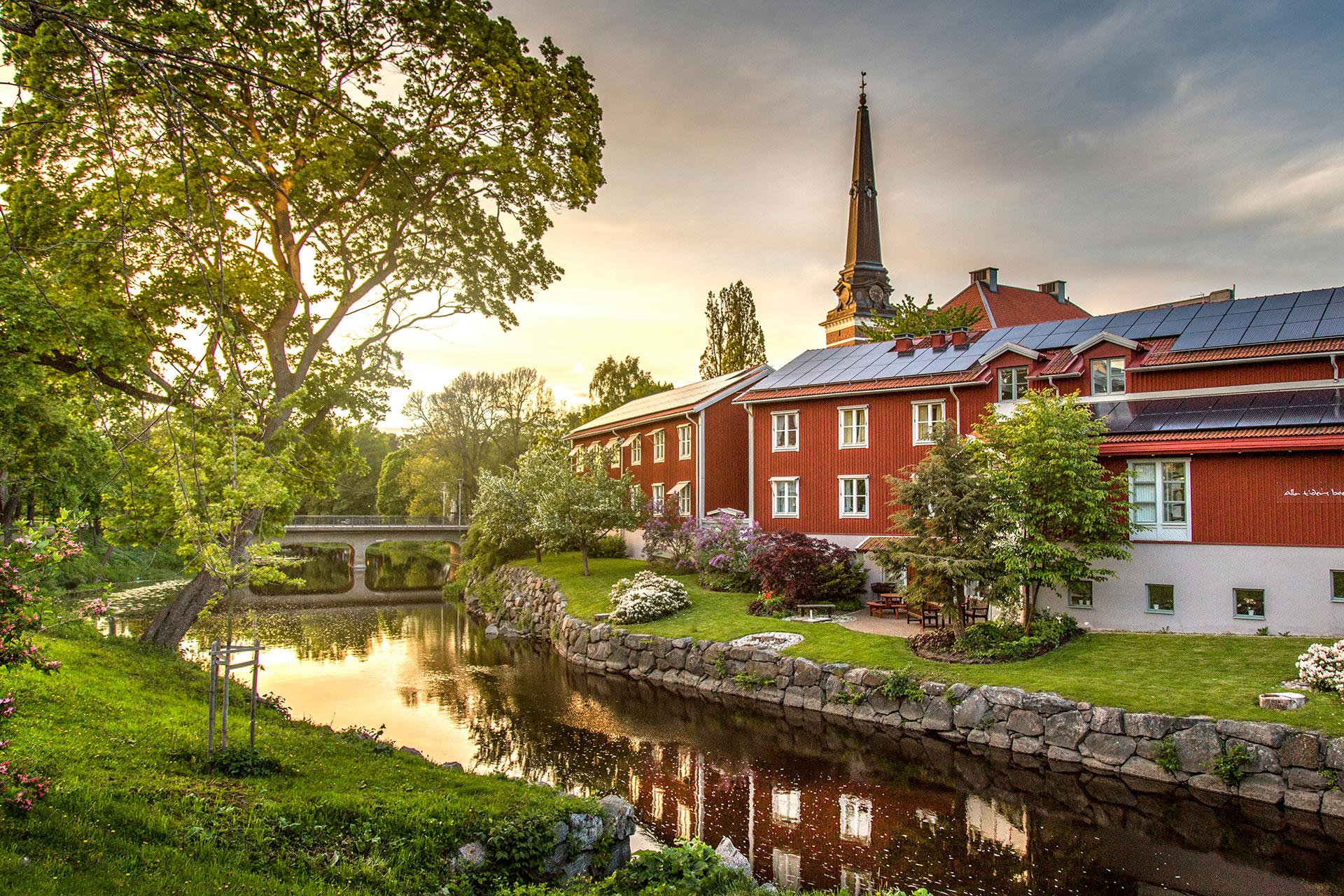 Svartån i Västerås. Fotograf: Avig Photo