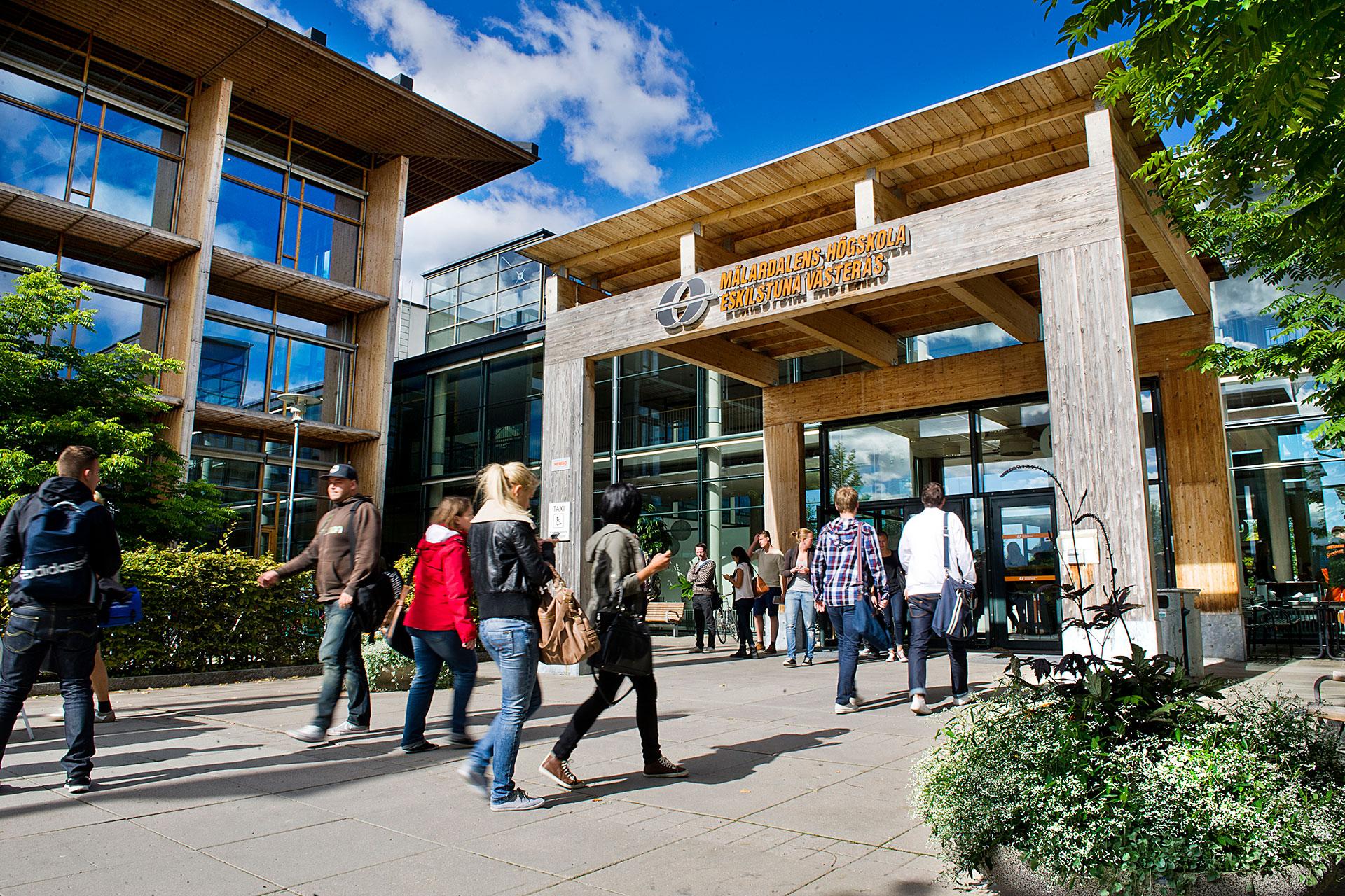 Mälardalens högskola i Västerås. Fotograf: Jonas Billberg