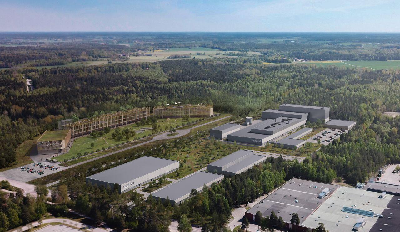 Visualisering över Northvolt labs expansion på Finnslätten i Västerås. Foto: Pressbild, Northvolt