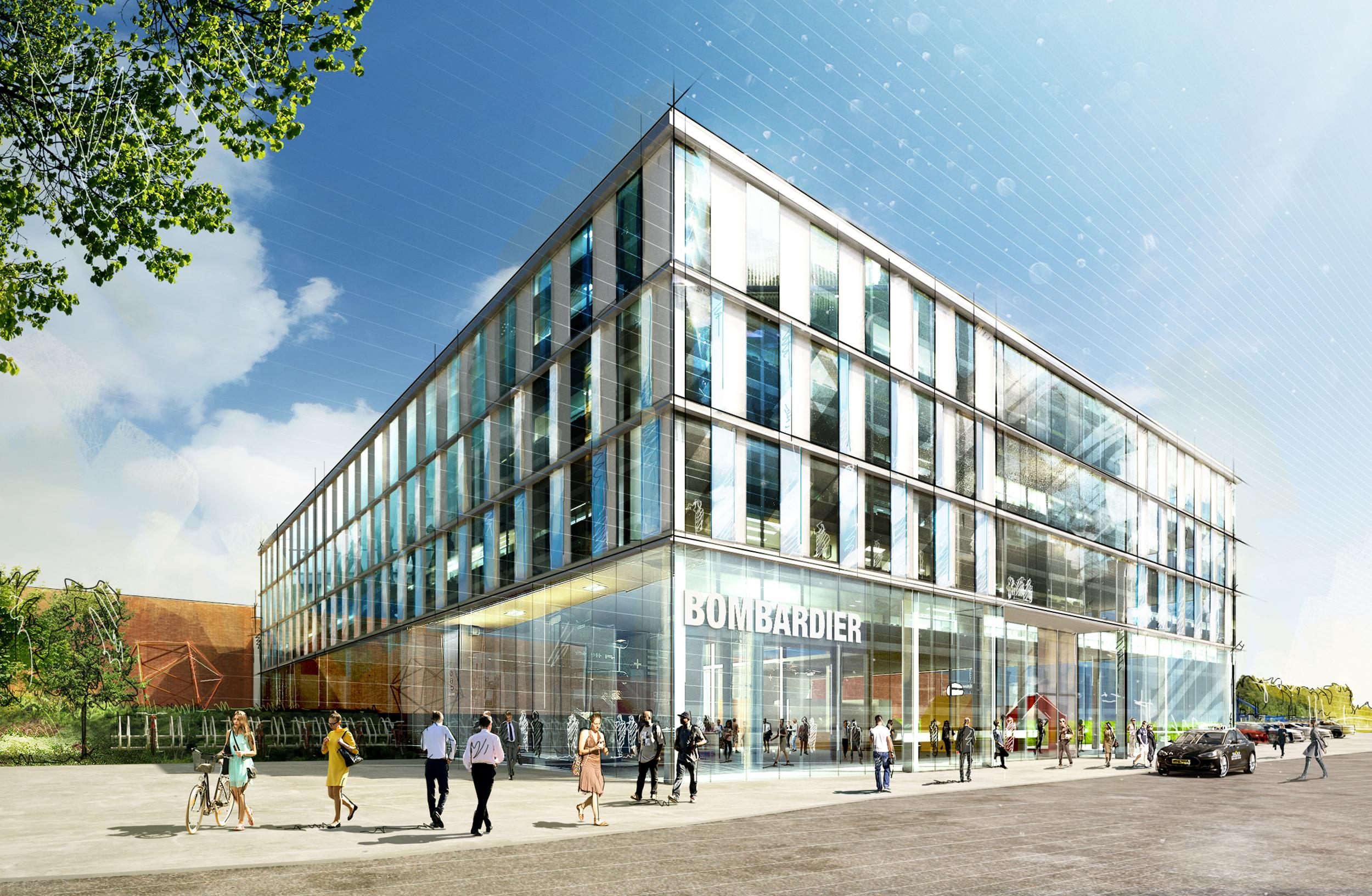 Bombardiers nya innovationscenter. Foto: Pressbild